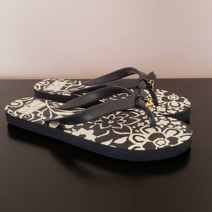 Kate Spade French Navy Monaco Floral Flip NWOB